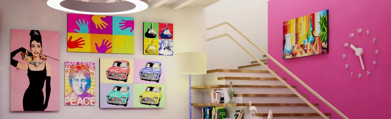 Leve as Cores do Pop Art para a sua casa